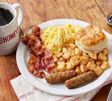 Shoney's breakfast buffet menu